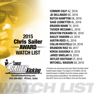 2015 Sailer Award Watch List
