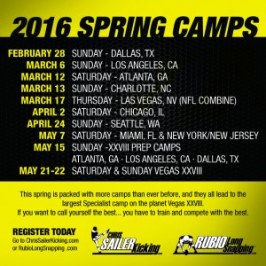 2016 Spring Camp Poster
