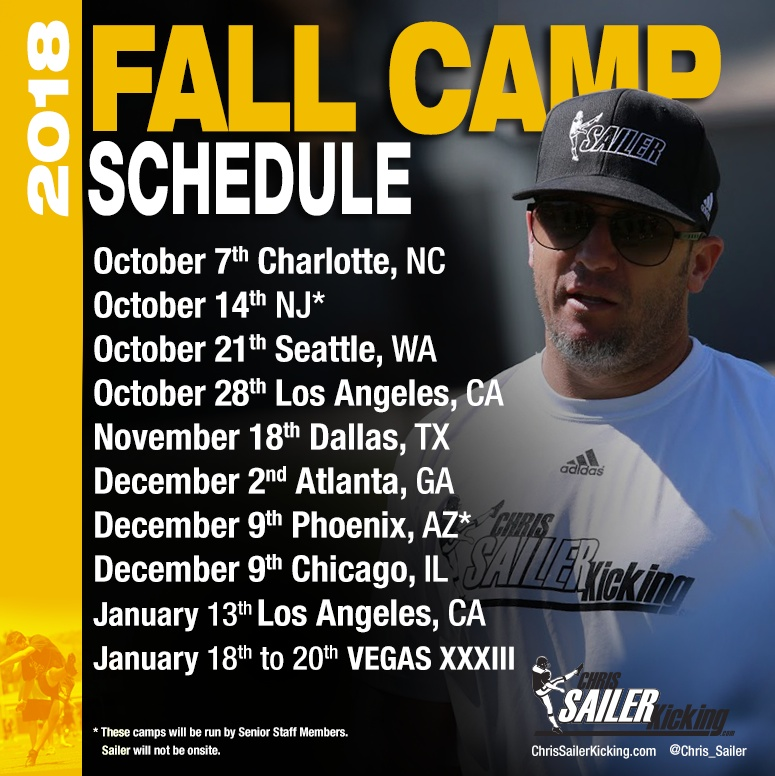 2018 Chris Sailer Kicking Fall Camps